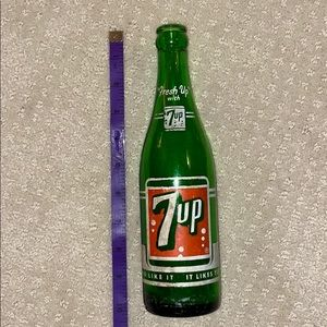7 Up Other - Extremely Rare & Vintage 1958 7up Glass Bottle